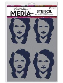 DINA WAKLEY MEDIA STENCIL: Four Women MDS49883