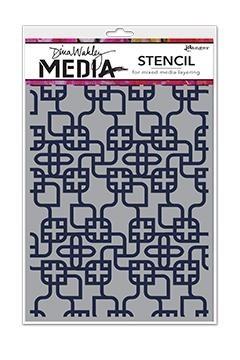 Dina Wakley Media Stencil: Linking Pattern MDS58267