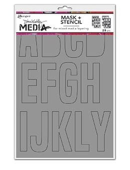 DINA WAKLEY MEDIA STENCIL: Mask + Stencil Alpha - MDS69218