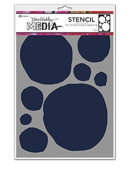 DINA WAKLEY MEDIA STENCIL: Circles for Painting MDS69225