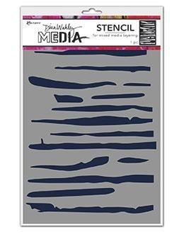 DINA WAKLEY MEDIA STENCIL: Lines MDS69249