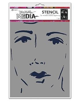 Dina Wakley Media Stencil: She Sees MDS69256