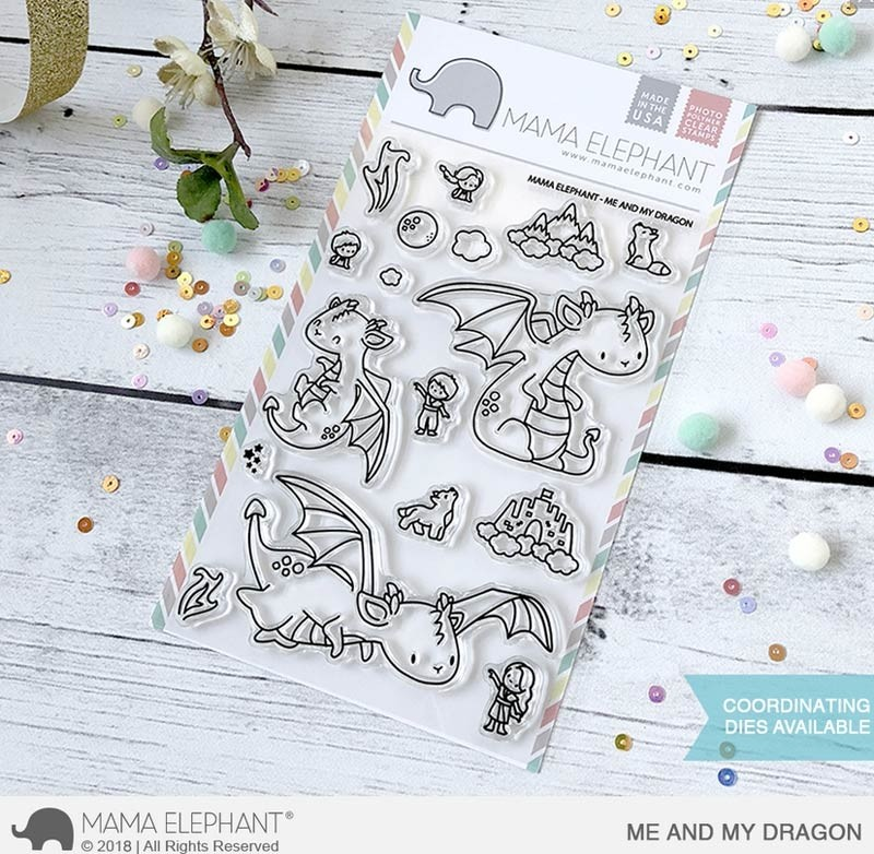 Mama Elephant Me and My Dragon Clear Stamp Set