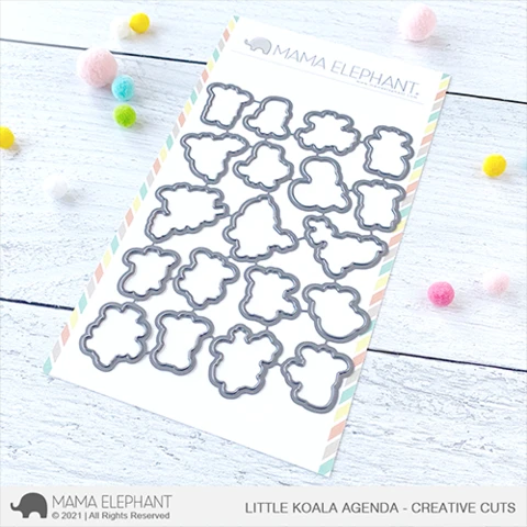 Mama Elephant Little Koala Agenda - Creative Cuts