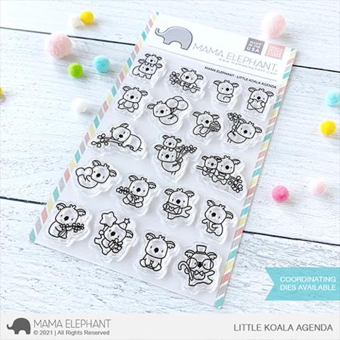 Mama Elephant Little Koala Agenda clear stamps