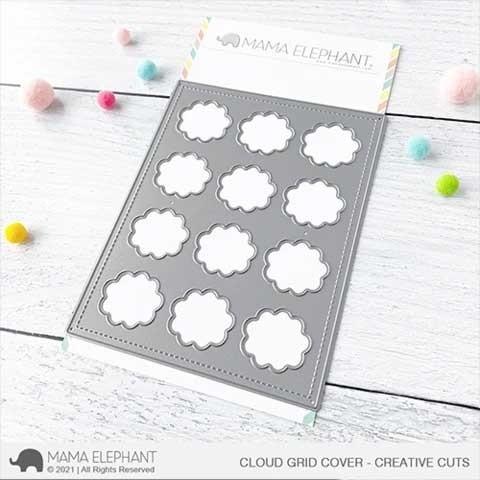 Mama Elephant Cloud Grid Cover Die