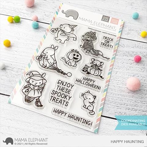 Mama Elephant HAPPY HAUNTING stamps