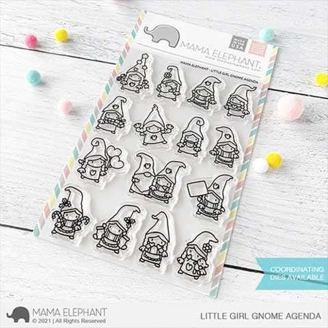 Mama Elephant  Little Girl Gnome Agenda