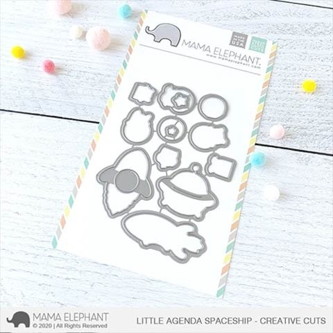 Mama Elephant Little Agenda Spaceship - Creative Cuts