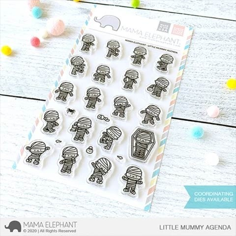 Mama Elephant LITTLE MUMMY AGENDA Clear Stamps