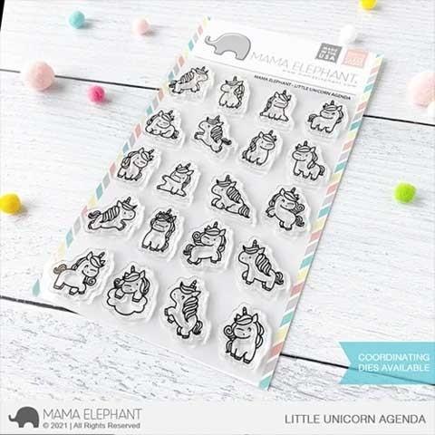 Mama Elephant Little Unicorn Agenda Clear Stamps