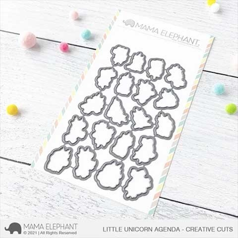 Mama Elephant Little Unicorn Agenda - Creative Cuts