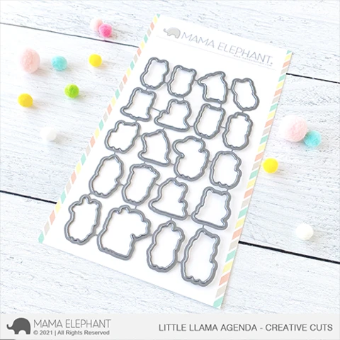 Mama Elephant Little Llama Agenda - Creative Cuts