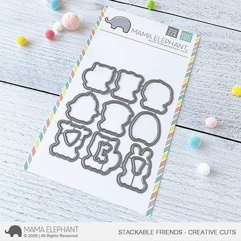 Mama Elephant STACKABLE FRIENDS die set