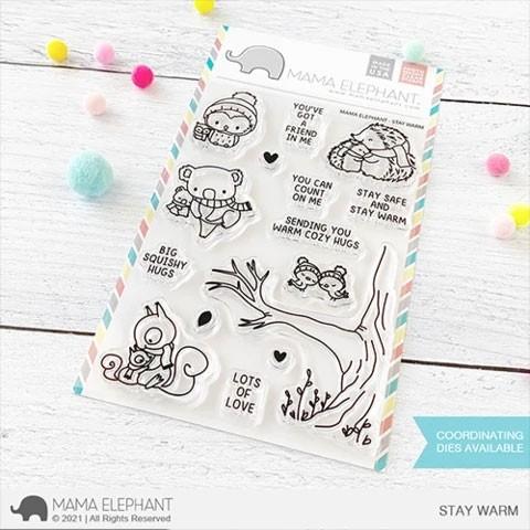 Mama Elephant Stay Warm Clear Stamp Set