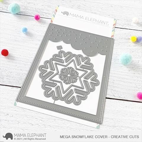 Mama Elephant Mega Snowflake Cover - Creative Cuts