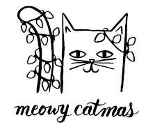 5711e - Meowy Catmas Rubber Stamp