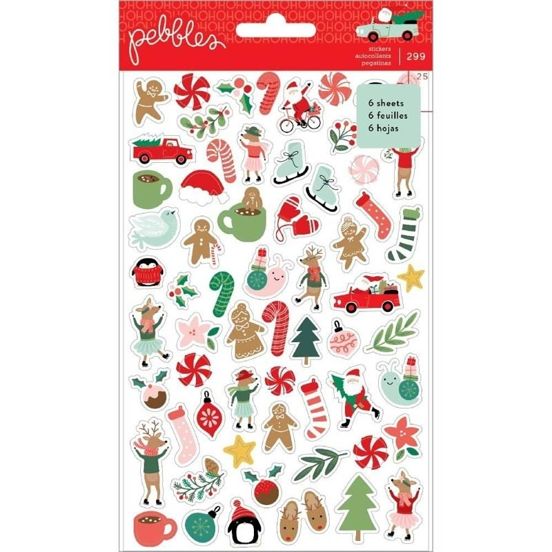 Pebbles Merry Little Christmas Stickers