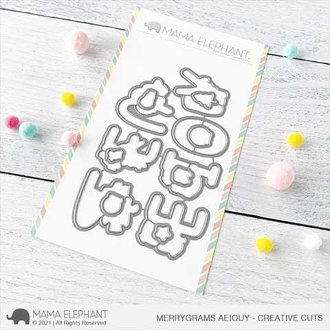 Mama Elephant Merrygrams AEIOUY - Creative Cuts