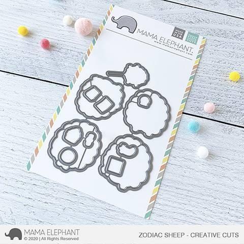 Mama Elephant Zodiac Sheep - Creative Cuts