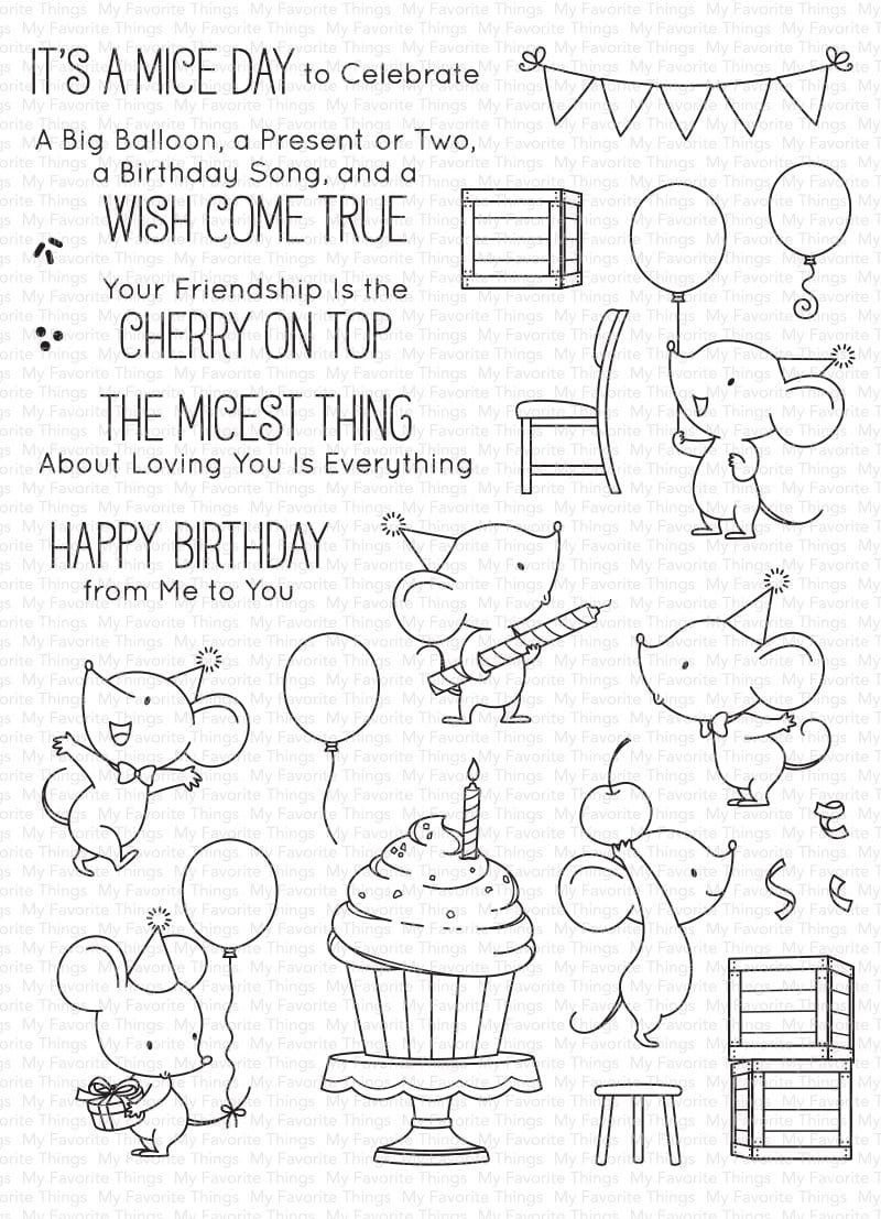 My Favorite Things BB Mice Day to Celebrate Stamp Set