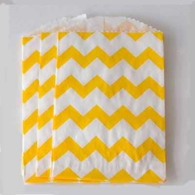 mini chevron bag - yellow