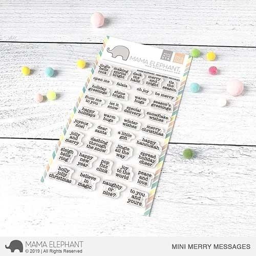 Mama Elephant Mini Merry Messages