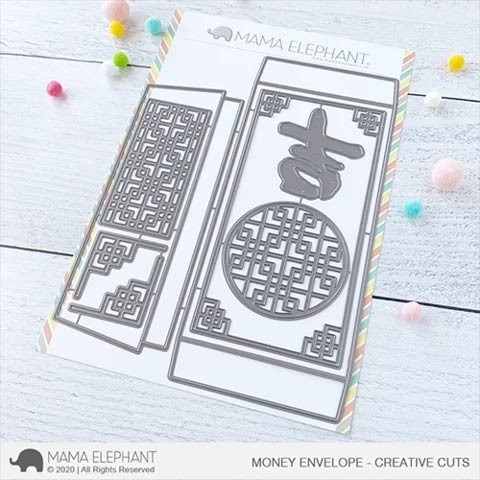 Mama Elephant Money Envelope - Creative Cuts