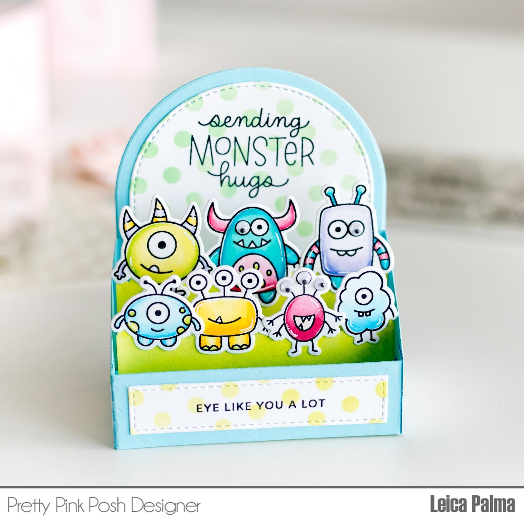 SALE - Pretty Pink Posh Monster Hugs stamp set