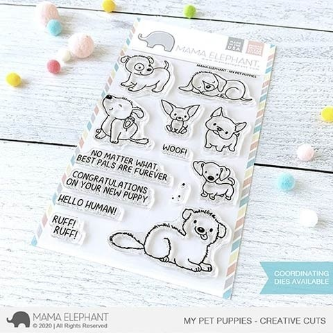 Mama Elephant  My Pet Puppies stamp and die set