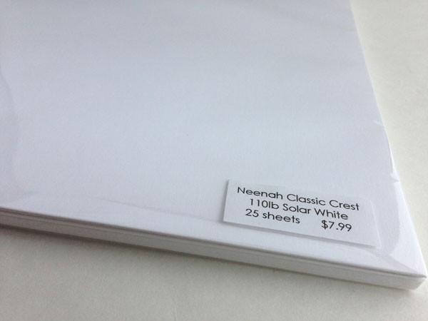 Neenah Classic Solar White - 110 pound