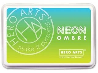 Hero Arts Neon Chartreuse to Blue Ombre Pad