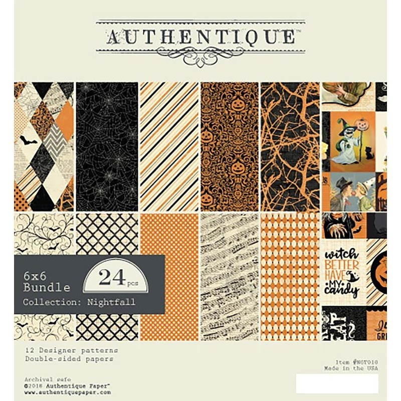 Authentique 6x6 Paper Pack Nightfall