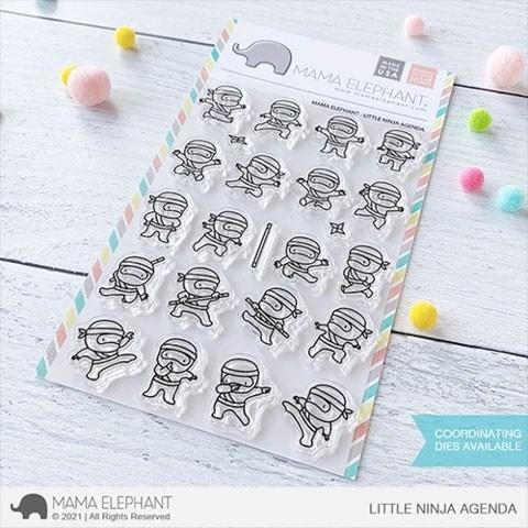 Mama Elephant Little Ninja Stamp Set