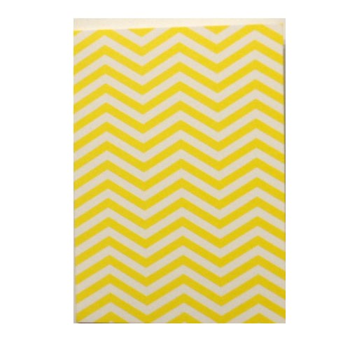 Yellow Chevron Notecards