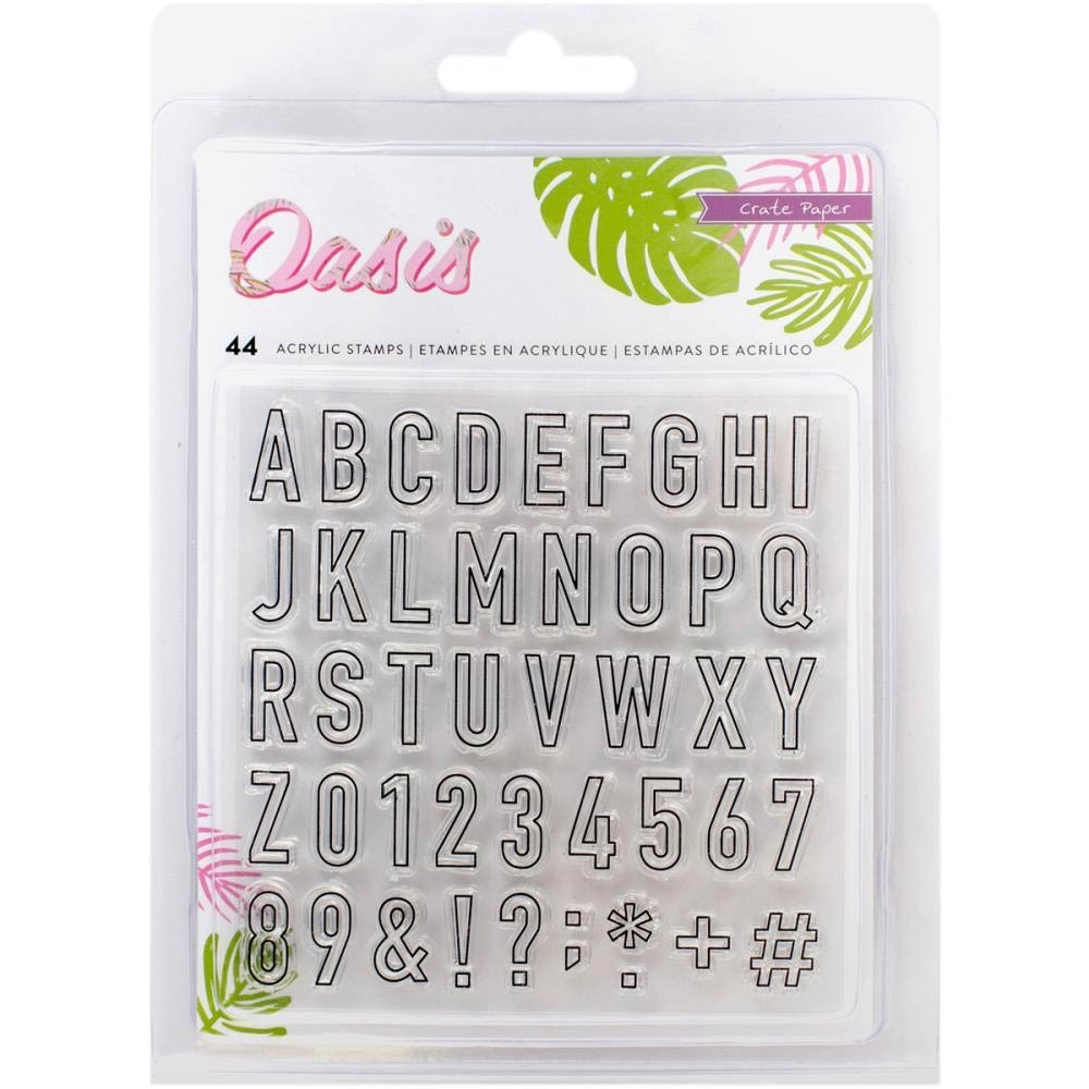 Crate Paper Oasis Clear Alphabet Stamp Set