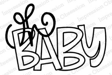 Oh Baby Rubber Stamp  iod21277