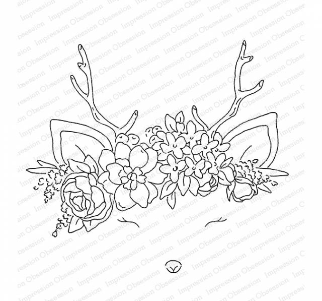 Oh Deer Rubber Stamp L20784