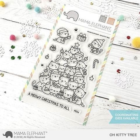 Mama Elephant Oh Kitty Tree Clear Stamp Set