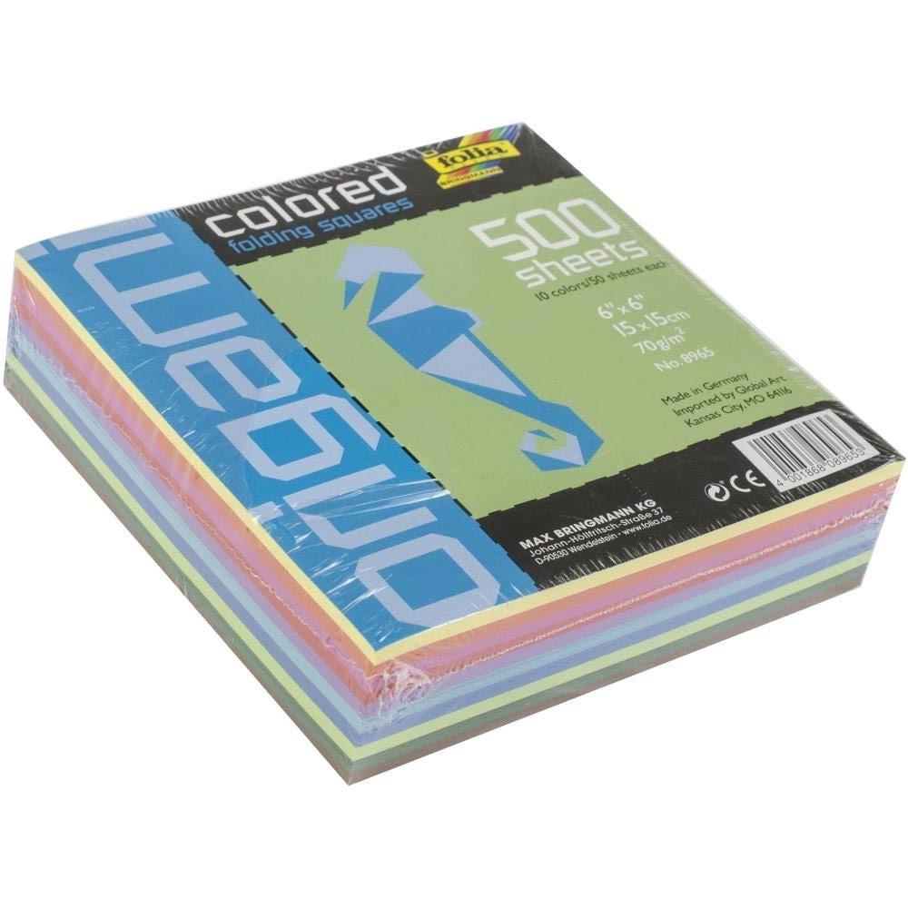 """Folia Solid Origami Paper 6""""X6"""" 500/Pkg"""