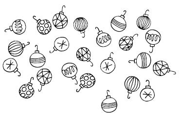 5713j - Ornament Border Rubber Stamp