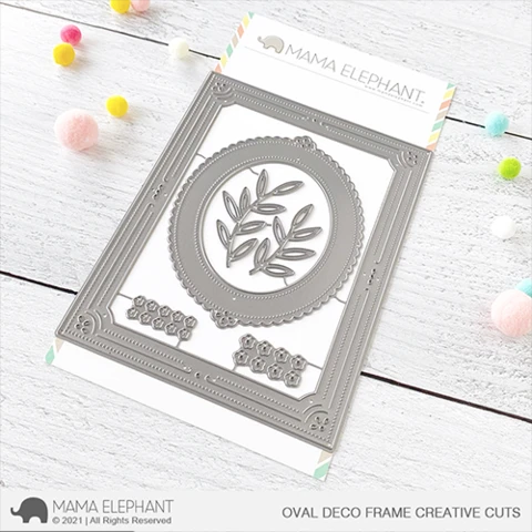 Mama Elephant Oval Deco Frame - Creative Cuts