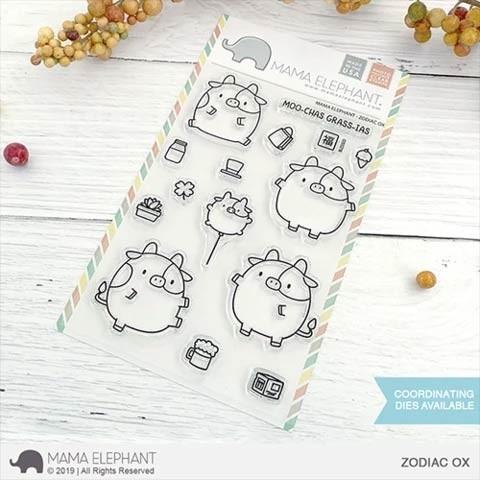 Mama Elephant Zodiac Ox Clear Stamp