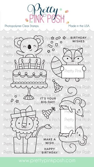Pretty Pink Posh Party Friends Stamp Set