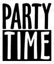 Party Time Rubber Stamp C14591io