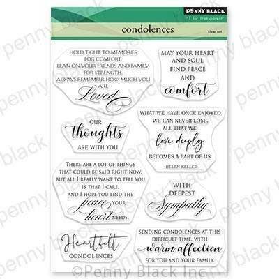 Penny Black Condolences Clear Stamp Set