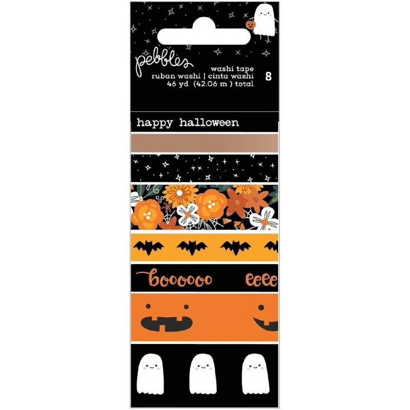 SALE - Pebbles Spoooky Washi Tape 8/Pkg