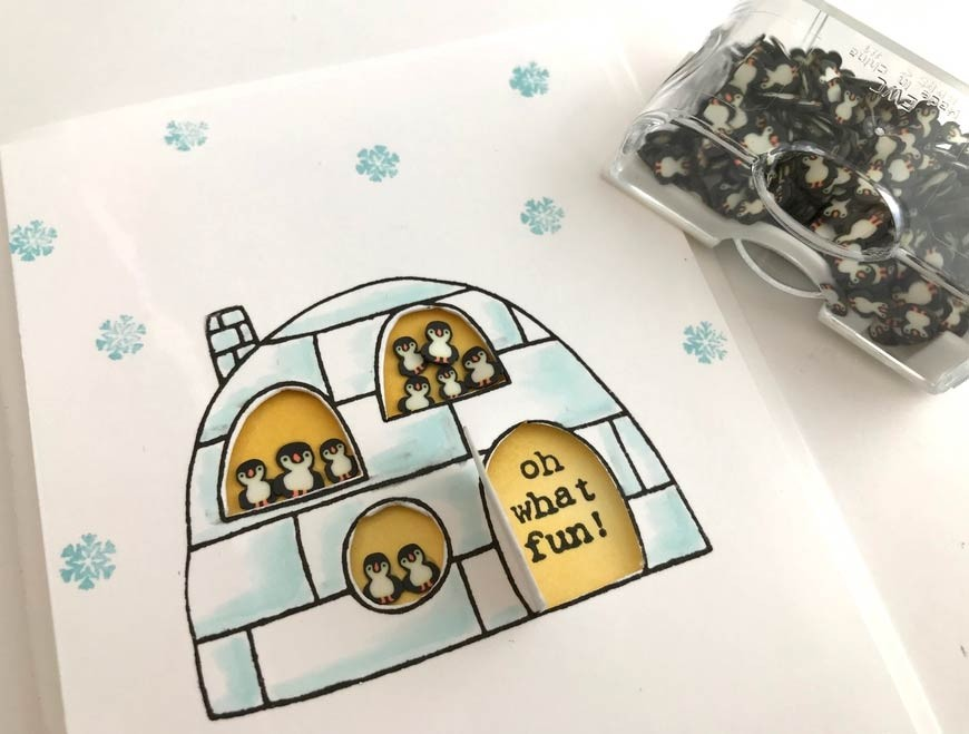 Penguin Poppers Clay Embellishments