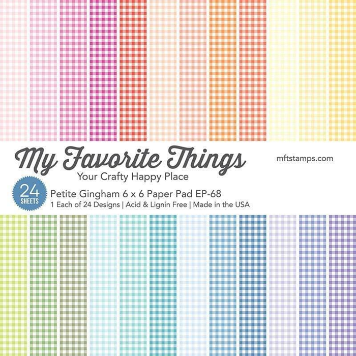 My Favorite Things Petite Gingham 6x6 Paper Pack