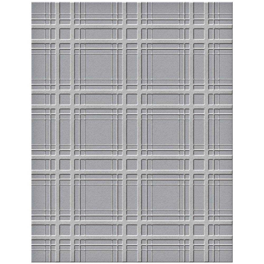 Spellbinders Plaid Embossing Folder